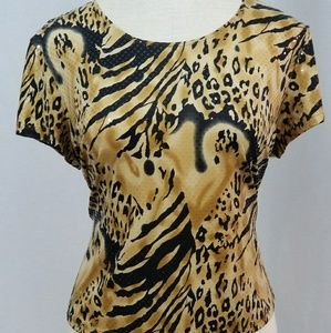 Animal Print  Plus Size Top Size 2X